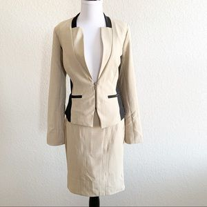 [Xoxo] Colorblock suit
